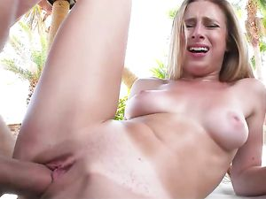 G-String Bikini Babe Craves Big Cock Hardcore Pleasures