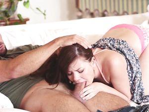 Bald Teen Pussy Milks His Hard Dick Erotically