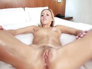 Slick Body Teen Fucked By The Big Cock Casting Agent