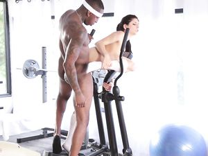 Fine Ass Workout Girl And The BBC Have Interracial Sex