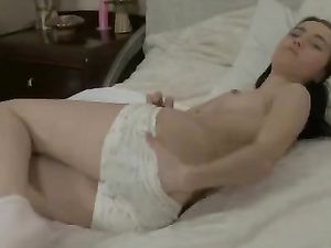Pajama Cutie Gets Naked To Bang Her Pink Dildo