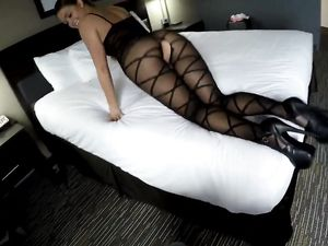 Internet Escort Wears Lingerie To Get Fucked
