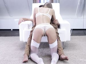 Beauty In Lingerie Sucks His Dick And Gets Laid