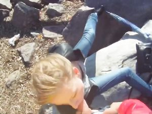 Public Sucking Cutie Bends Over For Dick