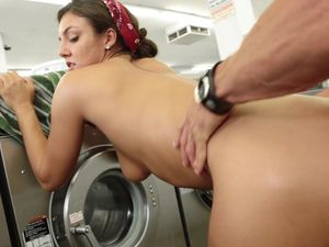 Taking Dick Makes Laundry Day So Much Fun