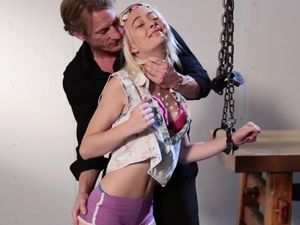 Kinky Guy Roughly Fucks A Petite Tied Up Teenager