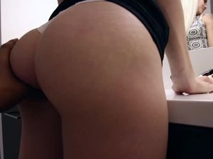 Bent Over Girlfriend Takes A POV Fucking