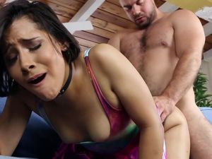 Big Cock Shoots Ropes Of Cum Across Her Face