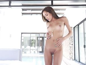 Doggy Style Pounding For A Petite Brunette