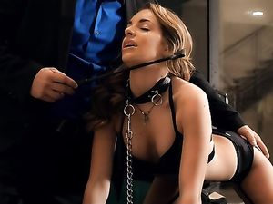 Leash Makes Girl Obedient During Fucking