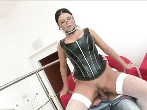 Leather Corset Makes Cute Teen Even Hotter