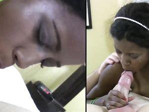 19 Yo Black Teen Getting A Facial After Fucking